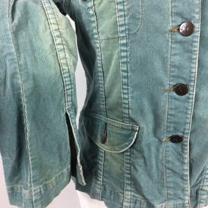 Anthropologie Jackets & Coats - Anthropologie | Louie | Blue Corduroy Jacket